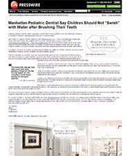 Ein Newsdesk - Manhattan Pediatric Dentist Say Children Should Not