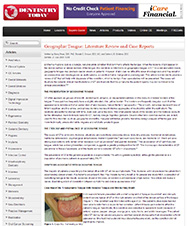 Dentistry Today - Geographic Tongue: Literature Review and Case Reports