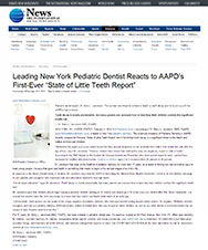 Ein Newsdesk - Leading New York Pediatric Dentist Reacts to AAPD's First-Ever State of Little Teeth Report